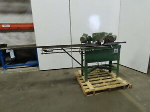 1hp 3ph 230 460v 8 Double Miter Notch Frame Saw 72 Runout Quick Stop