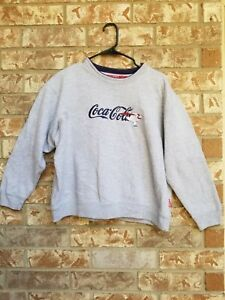 Women's Vintage Coca Cola Script Polar Bear Crewneck Sweater size L