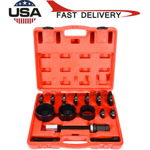 19pc Master Set Front Wheel Drive Bearing Removal Install Service Tool Kit Red
