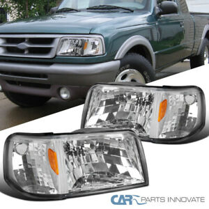 For 93 97 Ford Ranger Clear Lens Headlights corner Turn Signal Lamps Left right