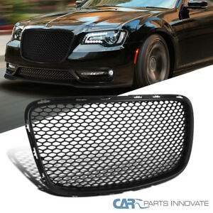 For 15 19 Chrysler 300 300c Black Front Mesh Style Hood Grille Grill Replacement