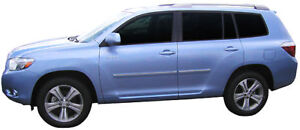 Painted Body Side Moldings With Chrome Insert For Toyota Highlander 2008 2013