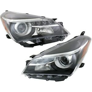 Headlight Set For 2015 2016 2017 Toyota Yaris Se Model Left And Right 2pc