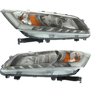 Headlight For 2013 2015 Honda Accord Pair Driver And Passenger Side