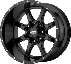 20x12 Gloss Black Moto Metal 970 1994 2018 Lifted Dodge Ram 1500 Trucks 5x5 5