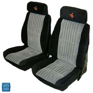 1985 1987 Grand National Front Bucket Seat Covers Pallex Cloth Black