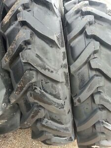 Two 13 6x38 13 6 38 8 Ply Ford new Holland 7635 Tube Type Tractor Tires