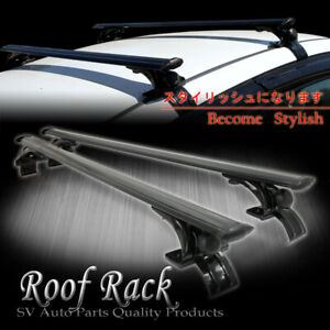 48 Black Aluminum Roof Rack Rail Carries Bike Cross Bars For Acura Bmw Audi