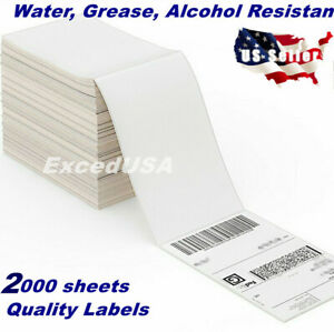 2000 Sheets 4x6 Direct Thermal Shipping Label Zebra 2844 Mailing Tags Amazon Fba