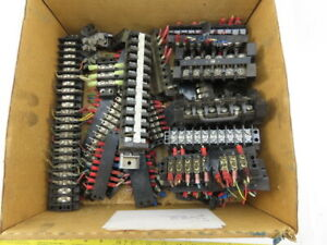 Assorted Terminal Block Sections Mixed Lot Of 40 Pcs
