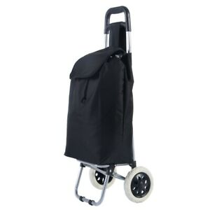 Wheeled Trolley Bag Cart Shopping Travel Light Weight Push Pull Wheels Upright