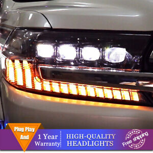 For Toyota Land Cruiser Headlights Double Lens Beam Projector All Led Drl 17 19