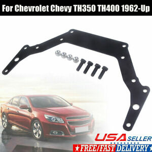 Transmission Adapter Plate Trans For Chevy 1962 Up Gm Th350 Th400 Bop To Black