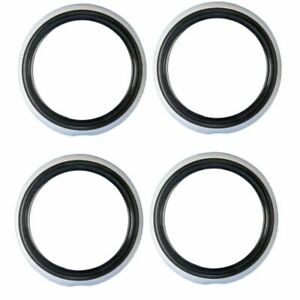 Atlas 15 Inch Black White Wall Portawalls Tire Insert Trim Set Of 4 Hot Rod