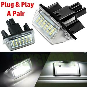 2pcs Led License Plate Light Lamp For Toyota Camry Highlander Avalon Prius C