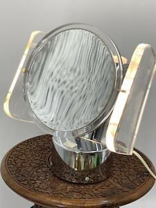 Rialto Ny 70 S Lucite Chrome Light Up Magnifying Vanity Makeup Mirror