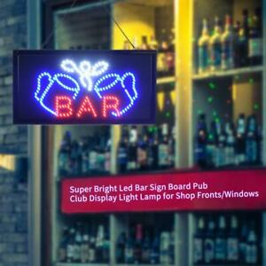 Led Bar Sign Board Pub Club Window Display Light Lamp For Shop Fronts window