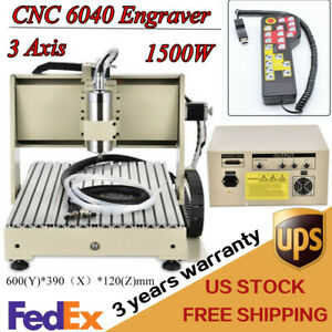 3axis Cnc Desktop Router Engraver 1500w Engraving Milling Machine Kit handwheel