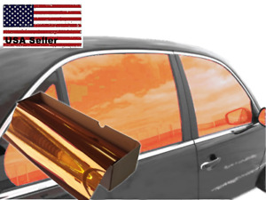 One Way Mirror Film Reflective Uv Window Color Tint orange 40 X 10
