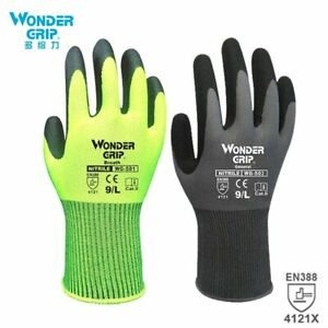 Construction Gloves Plumber Nitrile Sandy Coating Men Work Safety Gloves