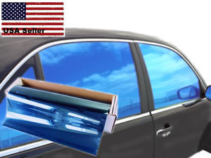 One Way Mirror Film Reflective Uv Window Color Tint blue 20 X 10