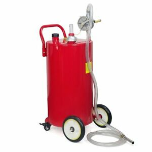35 Gallon Gas Fuel Diesel Caddy Transfer Portable Jerry Dispense Tank W Pump