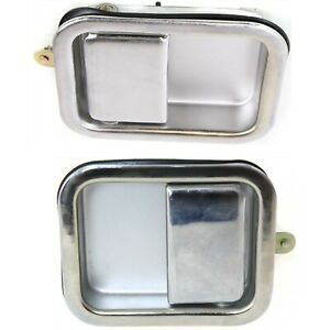 Exterior Door Handle For 97 2006 Jeep Wrangler tj Set Of 2 Front Chrome Metal