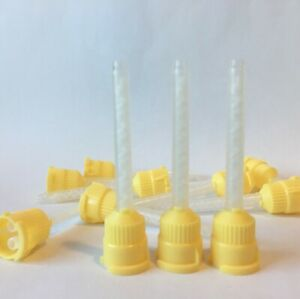 150 Pcs Dental Yellow Light Body Impression Mixing Tip 1 1