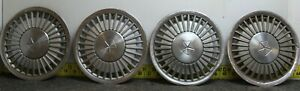 Oem Set Of 4 14 Hub Caps Wheel Covers 1984 88 Chrysler Caravelle Lebaron 2689