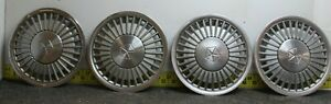 Oem Set Of 4 14 Hub Caps Wheel Covers 1984 88 Chrysler Caravelle Lebaron 2686