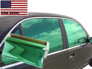 One Way Mirror Film Reflective Uv Window Color Tint Green 20 X 5