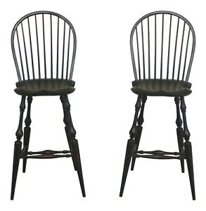 48064ec Pair Dr Dimes Green Country Windsor High Counter Chairs
