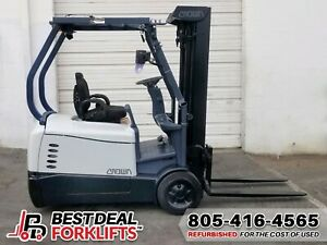 9x Refurbished 2016 Crown Sc5245 40 Electric 3 Wheel Forklifts With Low Hours
