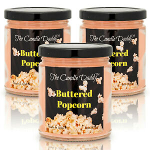 3 Pack Buttered Popcorn Pop Corn Butter 6 Oz Jar The Candle Daddy