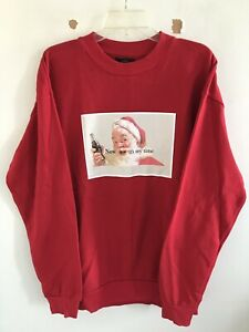 ZARA x Coca Cola Red Santa Clause Now It's My Time Crewneck Sweater Size Large