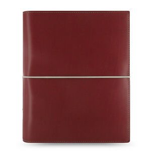 Filofax A5 Domino Organiser Notebook Diary Dark Red Leather 027872 Gift New b