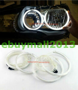 White Ccfl Halo Rings Angel Eyes For Bmw E90 E91 Halogen Lamp Drl Demon Corona