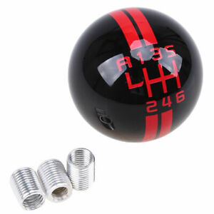 For Ford Mustang Gt500 6 Speed Manual Gear Shift Knob Shifter Black Round Ball