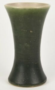 PACIFIC STONEWARE CO PORTLAND OREGON 9quot; TALL VASE ARTS AND CRAFTS GREEN