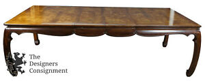 Universal Furniture Mahogany Burled Ashwood Asian Dining Table Chinoiserie Ming