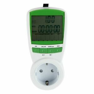 Eu Plug in Electricity Power Consumption Meter Energy Monitor Kwh Analyzer Lcd