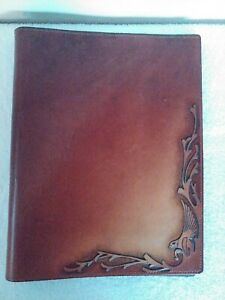Vintage Hand Tooled Leather Notebook Cover W Eagle Design Dairy journal