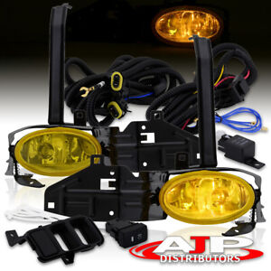 Yellow Fog Lights Bumper Lamps W switch harness For 2008 2010 Honda Accord Coupe