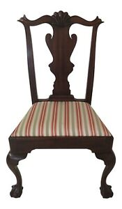 48151ec Henkel Harris Ball Claw Mahogany Side Chair