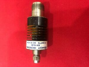 Midwest Microwave 501 10db Power Attenuator Dc 12 4 Ghz