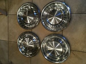Nice 1962 1963 Lincoln Continental Wheel Covers Hubcaps 62 63