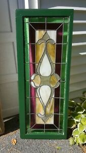 Antique Leaded Stained Glass Window 17 25 43 875
