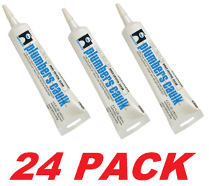 Hercules Plumber s Caulk Commercial Grade Multi purpose Clear Silicone 24 Pack