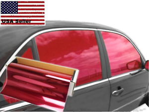 One Way Mirror Film Reflective Uv Window Color Tint Red 20 X 5