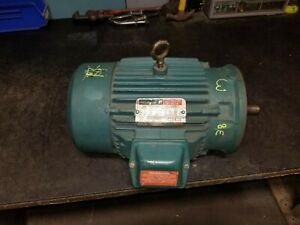 Reliance 3 Hp Electric Ac Motor 230 460v 1730 Rpm 3 Phase 180tc Frame P18g1014